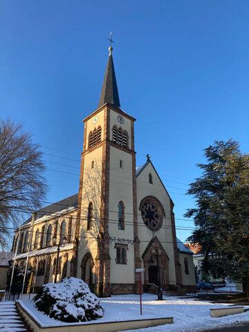 Église - Behren-lès-Forbach sous la neige (2021)